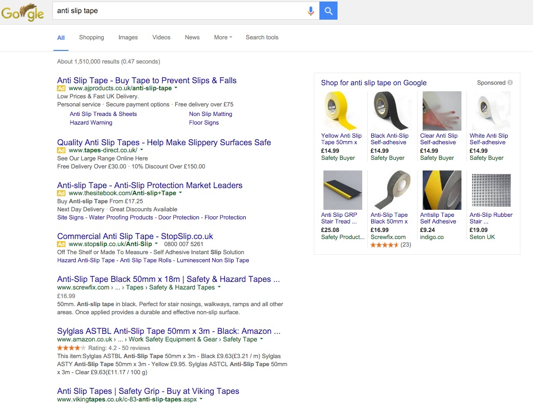 Google new layout 4 ads