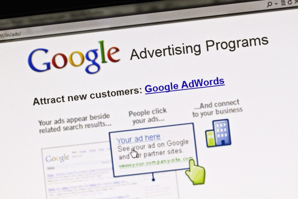 """""""Ostersund, Sweden - August 14, 2011: Close up of Google's Advertising Program's website on a computer screen."""""""