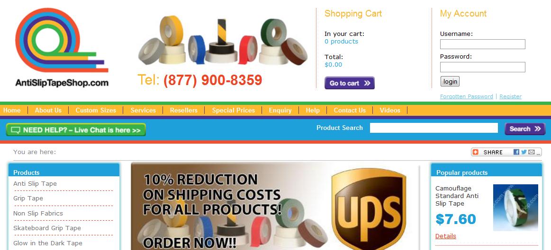 Anti Slip Tape Shop Website