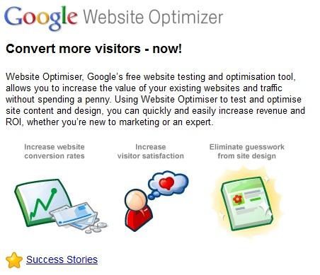 google-website-optimiser
